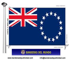 Bandera país de Islas Cook