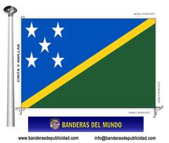 Bandera país de Islas Salomón