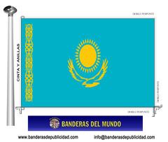 Bandera país de Kazajistán