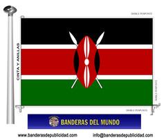 Bandera país de Kenia