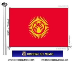 Bandera país de Kirguizistán