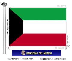 Bandera país de Kuwait