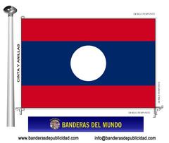 Bandera país de Laos