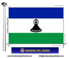 Bandera país de Lesotho