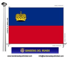Bandera país de Liechtenstein
