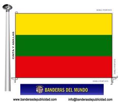 Bandera país de Lituania