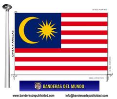 Bandera país de Malasia