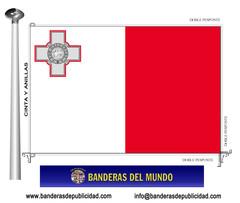 Bandera país de Malta
