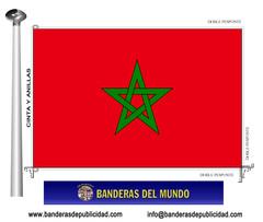 Bandera país de Marruecos