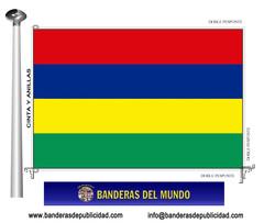 Bandera país de Mauricio