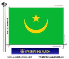 Bandera país de Mauritania