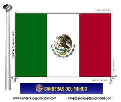 Bandera país de México
