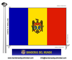 Bandera país de Moldavia