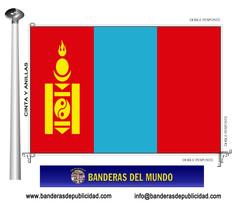 Bandera país de Mongolia