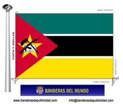 Bandera país de Mozambique