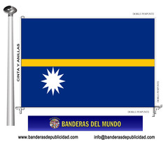 Bandera país de Nauru