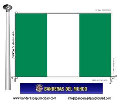 Bandera país de Nigeria