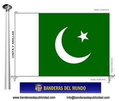 Bandera país de Pakistán
