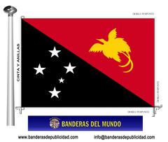 Bandera país de Papua Nueva Guinea