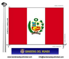 Bandera país de Perú