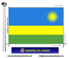 Bandera país de Ruanda