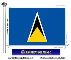 Bandera país de Santa Lucía