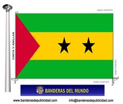 Bandera país de Santo Tome y Príncipe