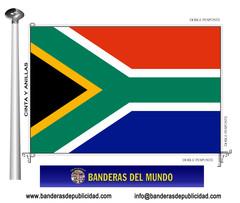 Bandera país de Sudáfrica