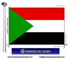 Bandera país de Sudán