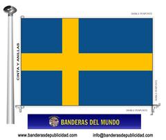 Bandera país de Suecia
