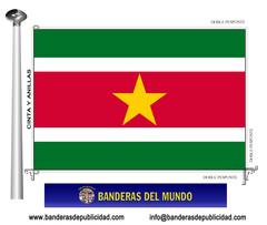 Bandera país de Surinam