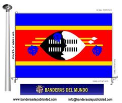Bandera país de Swazilandia