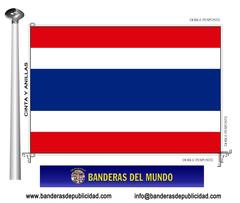 Bandera país de Tailandia