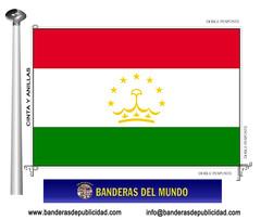 Bandera país de Tayikistán