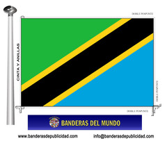 Bandera país de Tanzania