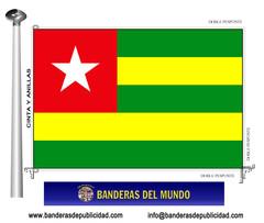 Bandera país de Togo