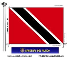 Bandera país de Trinidad y Tobago