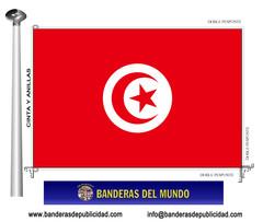 Bandera país de Túnez