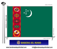Bandera país de Turkmenistán