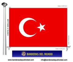 Bandera país de Turquía
