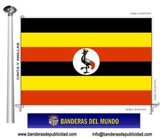 Bandera país de Uganda