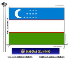 Bandera país de Uzbequistán