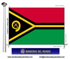 Bandera país de Vanuatu