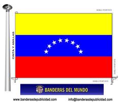 Bandera país de Venezuela sin escudo