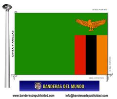 Bandera país de Zambia