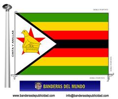 Bandera país de Zimbawe