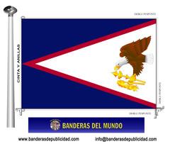 Bandera país de Samoa Americana