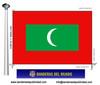 Bandera País d'Illes Maldives.