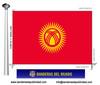 Bandera País d'Kirguizistan.