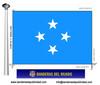 Bandera País de Micronesia.